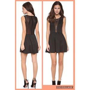 For Love and Lemons Black Lulu Mini Sheer Dress
